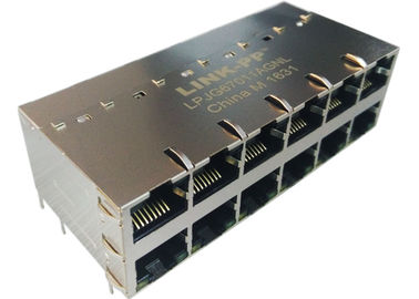 Connecteur 1000Base-T de LPJG67011AGNL 2x6 POE RJ45 avec LED IEE802.3at